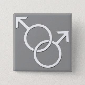 ゲイプライドボタンの同性の人愛ボタン 5.1CM 正方形バッジ