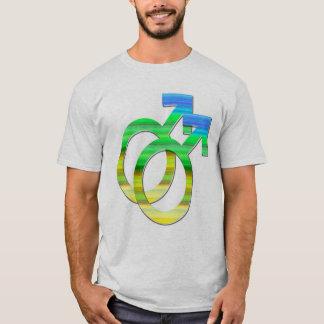 ゲイプライド -- 人 Tシャツ