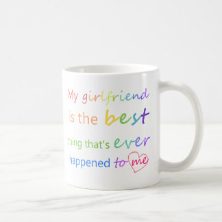 """ゲイプライド- """"私のガールフレンドあります""""は コーヒーマグカップ"""