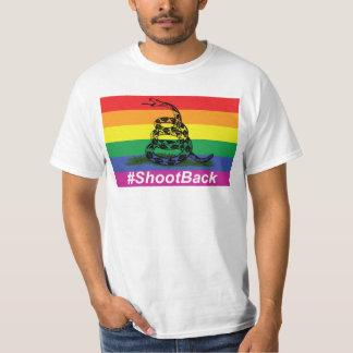 ゲイプライドGadsenのガラガラヘビの旗のシュート Tシャツ