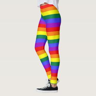 ゲイプライドLGBTのカラフルな虹パターン レギンス