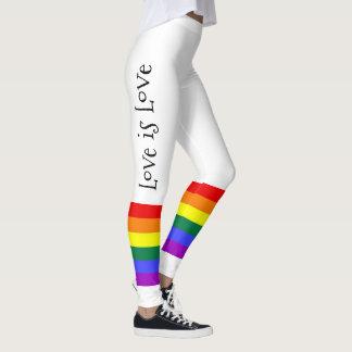 ゲイプライドLGBTのカラフルな虹愛は愛です レギンス