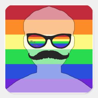 ゲイ同志の結婚の具象 スクエアシール