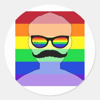 ゲイ同志の結婚の具象 ラウンドシール