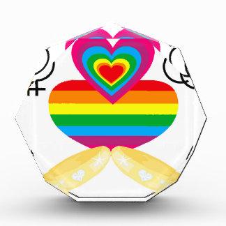 ゲイ同志の結婚 表彰盾