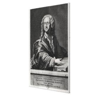ゲオルク・フィリップ・テレマンのポートレート キャンバスプリント