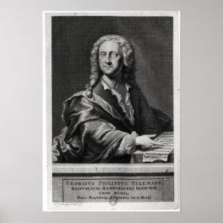 ゲオルク・フィリップ・テレマンのポートレート ポスター