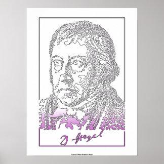 ゲオルグHegel。 ドイツの哲学者 ポスター