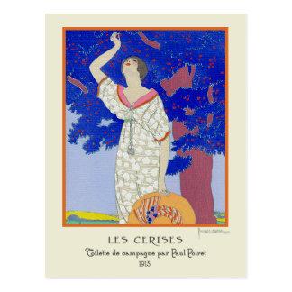 ゲオルゲスLepapeのヴィンテージのアールデコのファッションのLesのCerise ポストカード