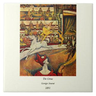 ゲオルゲスSeuratのサーカス(1891年) -ピエロ及びライダー タイル