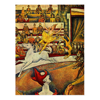 ゲオルゲスSeuratのサーカス(1891年) ポストカード