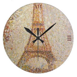 ゲオルゲスSeurat著エッフェル塔 ラージ壁時計