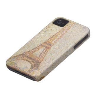 ゲオルゲスSeurat著エッフェル塔 Case-Mate iPhone 4 ケース