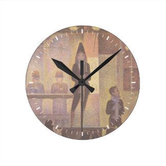ゲオルゲスSeurat著サーカスの余興 ラウンド壁時計