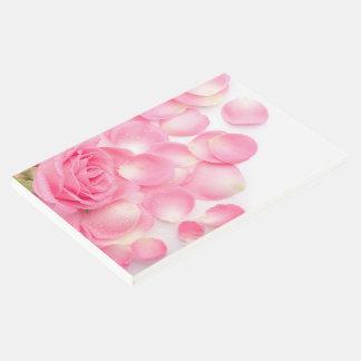 ゲストの本ピンクのバラ ゲストブック