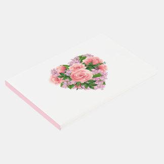 ゲストの本花柄のハート ゲストブック