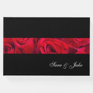 ゲストの本赤いバラ ゲストブック