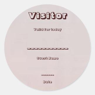 ゲスト、訪問者: 会議、展覧会、昇進 ラウンドシール