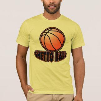 ゲットーの球のバスケットボール Tシャツ