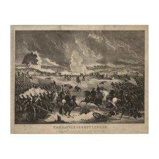 ゲティスバーグの戦いの絵 ウッドウォールアート