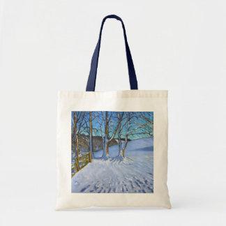 ゲートおよび木の冬は車線ダービーシャー2013年を遮ぎります トートバッグ