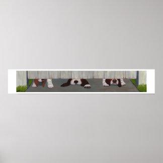 ゲートのバセット犬 ポスター