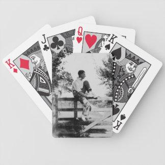 ゲートの古いイメージの人-自転車のポーカーカード バイスクルトランプ