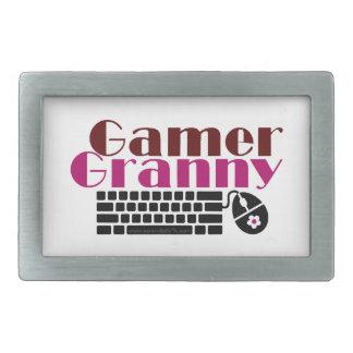 ゲーマーのおばあさん 長方形ベルトバックル