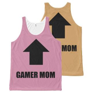 ゲーマーのお母さんタンク オールオーバープリントタンクトップ