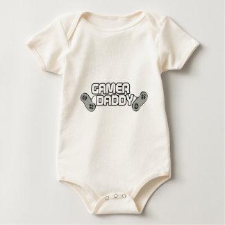 ゲーマーのお父さんのロゴ ベビーボディスーツ
