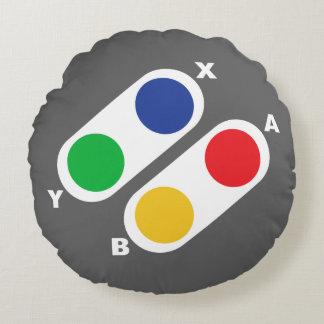 ゲーマーのためのコンソールゲームのコントローラーの円形の枕 ラウンドクッション