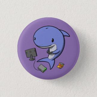 ゲーマーのクジラ 3.2CM 丸型バッジ
