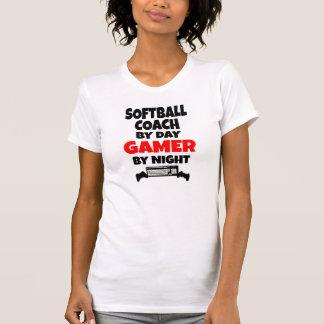ゲーマーのソフトボールのコーチ Tシャツ