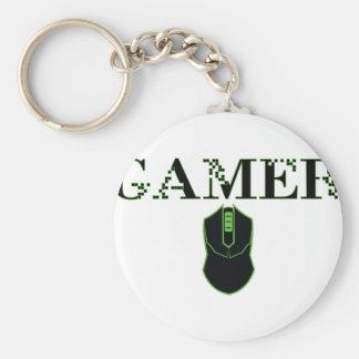 ゲーマーのマウス(緑) キーホルダー