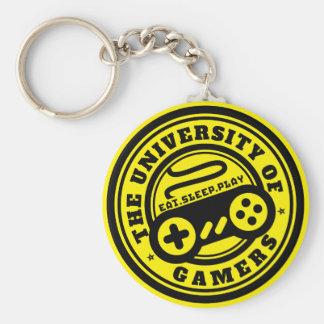 ゲーマーのロゴの賭博Keychainの大学 キーホルダー