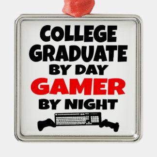 ゲーマーの大学卒業生 メタルオーナメント