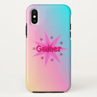ゲーマーの女の子のAppleのiPhone Xの場合 iPhone X ケース