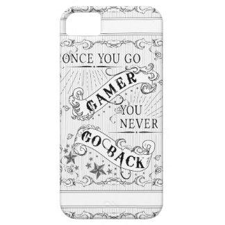 ゲーマー行けば決して白黒の戻りません iPhone SE/5/5s ケース