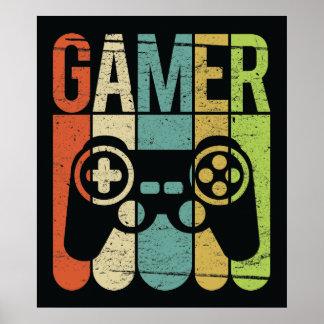 ゲーマー(ゲームのコントローラー) ポスター