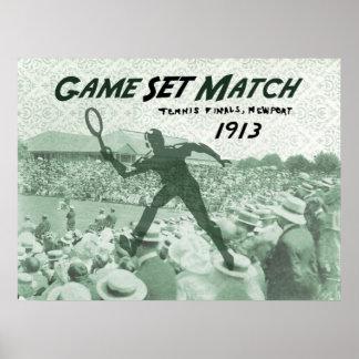 ゲームの一定のマッチ: ヴィンテージのテニスポスター ポスター