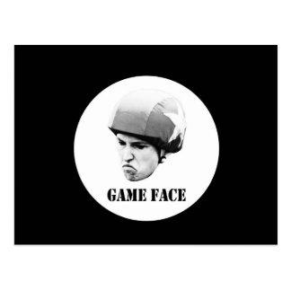 ゲームの顔- big.jpg ポストカード
