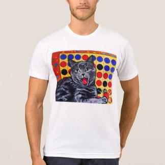 ゲームのTシャツを遊んでいるおもしろいな猫 Tシャツ