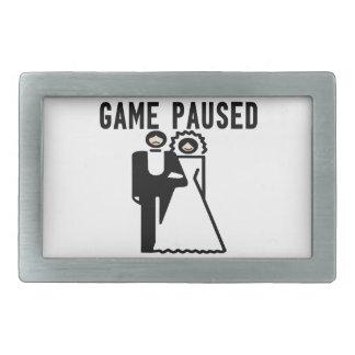 ゲームは花嫁及び新郎休止しました 長方形ベルトバックル
