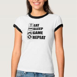 ゲームマニアは睡眠のゲームRepatを食べます Tシャツ