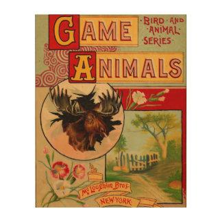 ゲーム動物の表紙 ウッドウォールアート