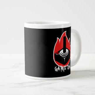 ゲーム! 黒い賭博のジョイスティックの火球 ジャンボコーヒーマグカップ