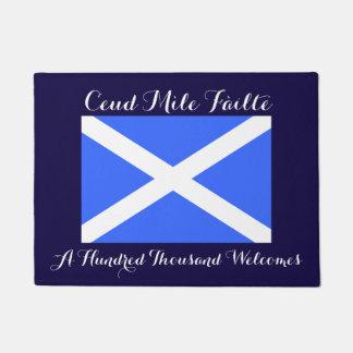 ゲール語十万の歓迎のスコットランドの旗 ドアマット