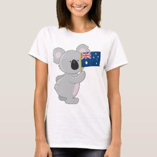 コアラのオーストラリア人の旗 Tシャツ