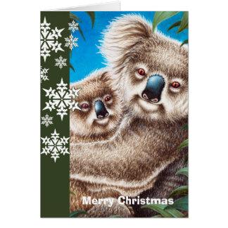 コアラのクリスマスカード カード