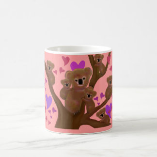 コアラのバレンタインのマグ コーヒーマグカップ